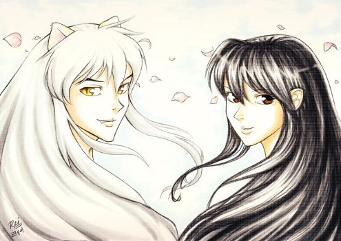 Inuyasha and Kagome tribute by Raynated