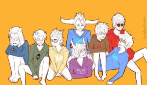 homestuck boys by loonytwin