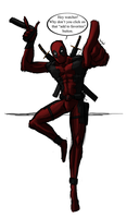 Deadpool Fast Drawing by OscarAnoA
