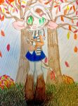 Autumn with Milky(Close up) by LiveWireGoth