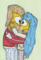 Homer And Marge In Highschool by ChnProd22