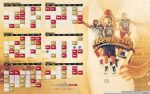 Beakcity - New Orleans Pelicans Calendar by D-Ejkiewicz