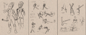 Ninja Concept Sketches by JRTribe