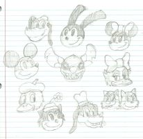 Disney Faces by Dobie-Takahama