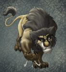 Wolverine lion by hibbary