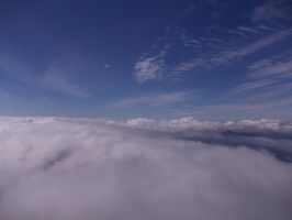 Fly over the clouds like a Dragon by ZarthialDragon