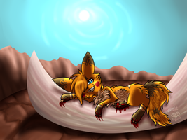 Chillin' on Bones by eevee4everX3