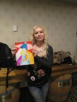 Jen Page Holding Watercolour Picture I by Poorartman