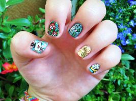Alice in Wonderland nail art ii by NGC7424