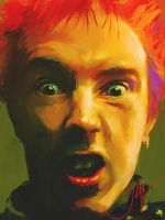 JOHNNY ROTTEN- Oil Version by JALpix