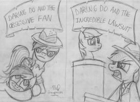Daring Do Covers: Pencil Sketch Version by drawponies