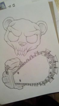 Nightmare Bear unfinished by krutch99