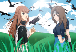Collab: Hana and Kohana by anime-rpc