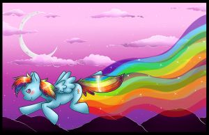 Rainbow Dash DesktopBackground by ShushiKitty