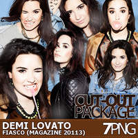 Demi Lovato Fiasco Magazine Cut-Out Pack by r-adiant