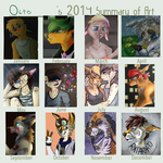 Art Summary 2014 by damn-days