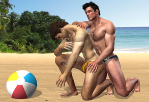 Beach Hunks Best Buds 3 Briefs by KevIzz