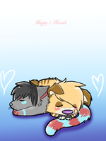 Happy 1 Month guys by Sliced-Penguin