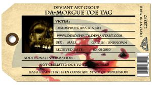 deadspirit6 Toe Tag- ID by deadspirit6