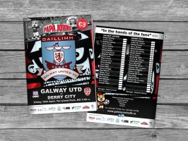 Galway United Match Programme by morganobrienart
