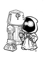 R5-D4 and Jawa by JTampa