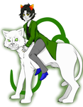 Nepeta and Pounce (Zoom in) by Daynightmare