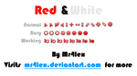 Red and White Cursor Set by Mr4lex
