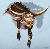 Radhoof, Tauren Warrior Color by D-MAC