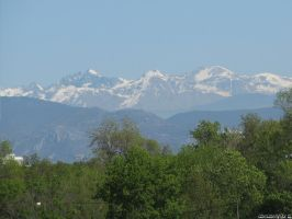 View of the Alps from the sea by Momotte2