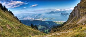 Lucerne from Pilatus by roman-gp