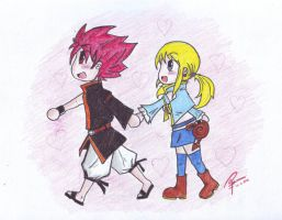 Natsu X Lucy : let's go to the Carnival by AsukaShin10