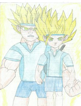 The Super Saiyan Coztello Brothers by YoungJash