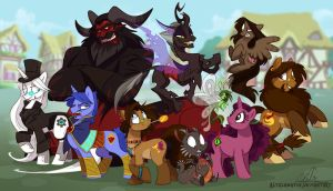 My Diminutive Equines of Supernatural Fraternity by Altalamatox