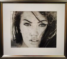 Megan Fox (pencil) by MSamsonov