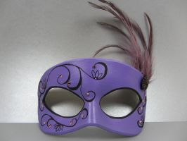 Purple lotus masquerade mask by maskedzone