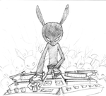 DJ Black Rabbit -sketch- by jasinski