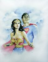 Wonder Woman and Superman by MikeKretz