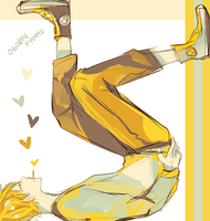 yellows and pale blue by kyunyo