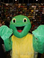 Walkaround turtle costumed character by dth1971