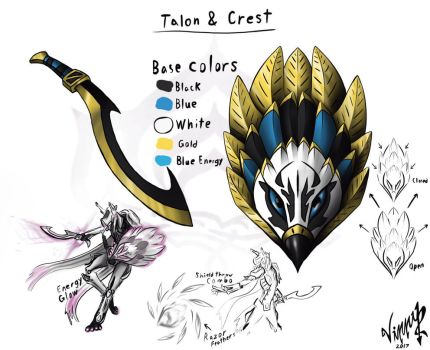 Talon and Crest (Warframe 'The Best Defense') by Ink-For-Brains07