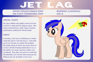 MLP OC Bio Sheet - Jet Lag by outlaw4rc