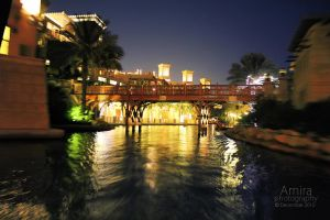 Madinat Jumeirah at night Dubai dec 2010 2 by amirajuli