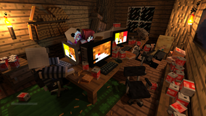 My Minecraft Player and My Freinds Players by babybunny80