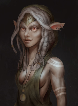 Dark Elf by Aleltg