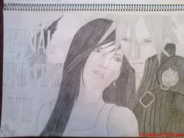Cloud and Tifa by Zabboud