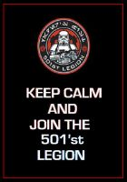 Star Wars - 501st Legion 'Keep Calm' Poster by DoctorWhoOne