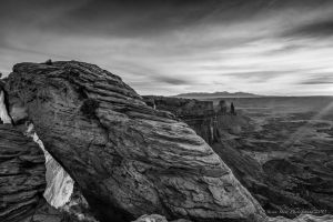 Mesa Arch at Dawn BW by Mac-Wiz