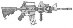 Bushmaster M4 Rifle original by angelfire7508