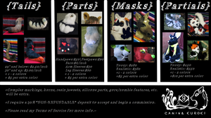 Yami's Fursuit Price-List 2015 by HoneyspydeR