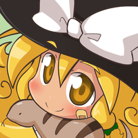 Marisa and tsuchinoko by Coffgirl